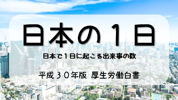 【平成30年版厚生労働白書】日本の1日