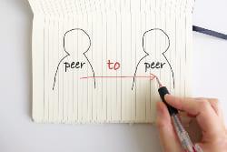 ピア・トゥー・ピア(P2P:Peer to Peer)方式